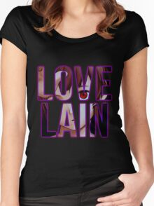 Let's all Love Lain! Women's Fitted Scoop T-Shirt