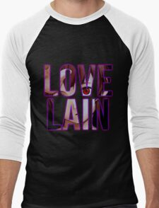 Let's all Love Lain! Men's Baseball ¾ T-Shirt