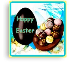 Happy Easter Chocolates Canvas Print