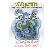 1986 Upside-Down Art , Upsidedownism, Topsy Turvy, Ambigram Art or Masg Art by Leading Upside-Down Artist, L. R. Emerson II. Poster