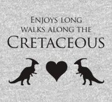Enjoys Long Walks Along The Cretaceous One Piece - Long Sleeve