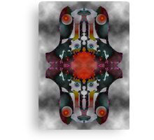 """Turning Inward"" 1995 Upside-Down Art, Masg Art, Upsidedownism, Ambigram Art or Topsy Turvy Art, world premiere by Upside-Down Artist, L. R. Emerson II. Canvas Print"