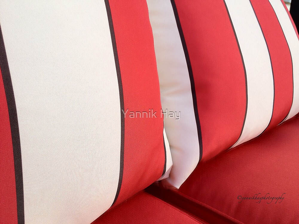 Red and White Stripes by Yannik Hay