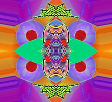 """Peter Max & the Day Glo Dream"" is an Upside-Down Art, Masg Art, Upsidedownism, Ambigram Art or Upside-Down Drawing by Upside-Down Artist, L. R. Emerson II  by L R Emerson II"