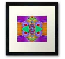 """""""Peter Max & the Day Glo Dream"""" is an Upside-Down Art, Masg Art, Upsidedownism, Ambigram Art or Upside-Down Drawing by Upside-Down Artist, L. R. Emerson II  Framed Print"""
