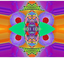 """""""Peter Max & the Day Glo Dream"""" is an Upside-Down Art, Masg Art, Upsidedownism, Ambigram Art or Upside-Down Drawing by Upside-Down Artist, L. R. Emerson II  Photographic Print"""