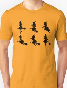 Witch with Broom Silhouette T-Shirt