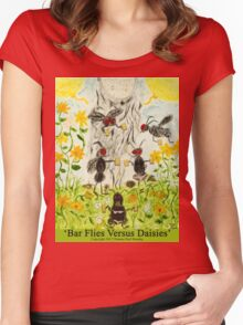 Bar Flies Versus Daisies Women's Fitted Scoop T-Shirt