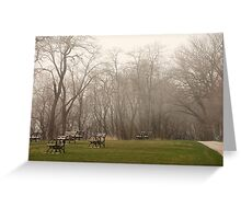 Lake Park Foggy Landscape Greeting Card