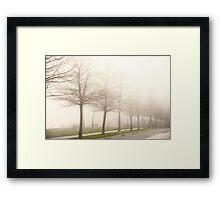 Foggy Sidewalk Scene Framed Print