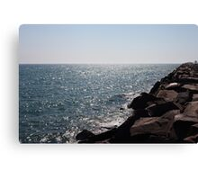 Glistening Horizon Lake Michigan Scene Canvas Print