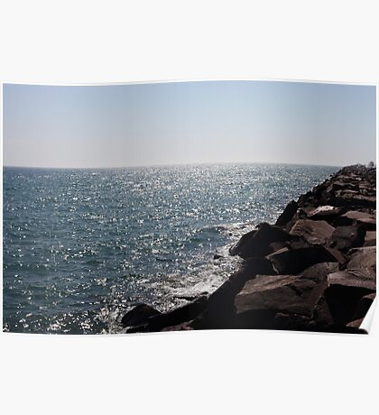Glistening Horizon Lake Michigan Scene Poster