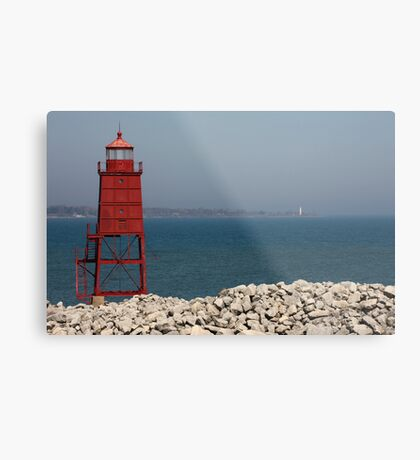 Red Watch Tower Metal Print