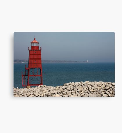 Red Watch Tower Canvas Print