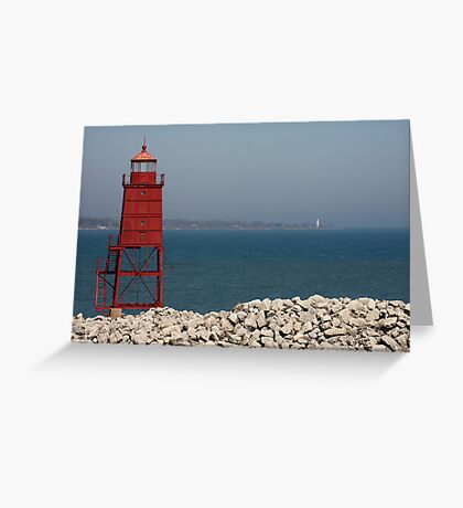 Red Watch Tower Greeting Card