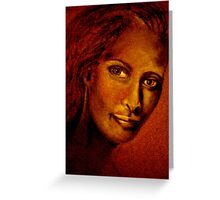 Her Picture.... Greeting Card