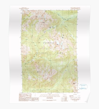 USGS Topo Map Washington State WA Mount Christie 242485 1990 24000 Poster
