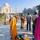 Tourists at the Taj by Brendan Buckley