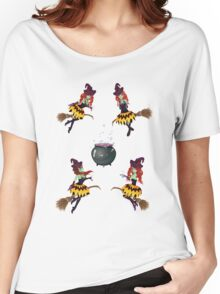Dark Witch with Broom Women's Relaxed Fit T-Shirt