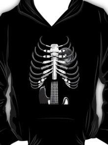Guitar Skeleton Microphone Rock Music Lovers T-Shirt