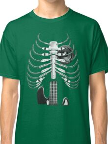 Guitar Skeleton Microphone Rock Music Lovers Classic T-Shirt