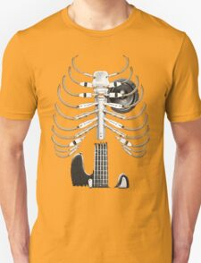 Guitar Skeleton Microphone Rock Music Lovers T-Shirt