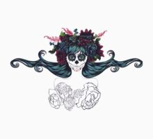 Sugar Skull Girl in Flower Crown 7 One Piece - Short Sleeve