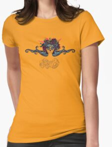 Sugar Skull Girl in Flower Crown 7 Womens Fitted T-Shirt