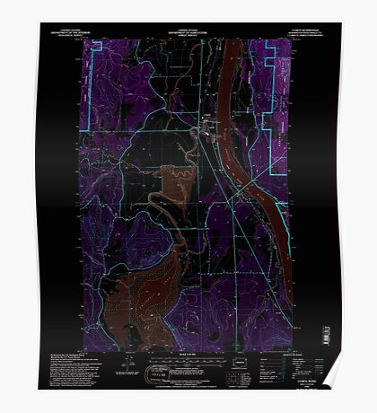 USGS Topo Map Washington State WA Cusick 240765 1992 24000 Inverted Poster