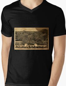 Panoramic Maps Adams Mass1882 Mens V-Neck T-Shirt