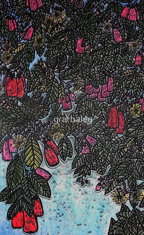 Blue Sky and Brush Cherries by grarbaleg