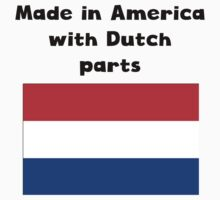 Made In America With Dutch Parts Kids Tee