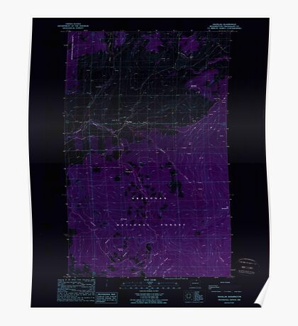 USGS Topo Map Washington State WA Havillah 241506 1988 24000 Inverted Poster