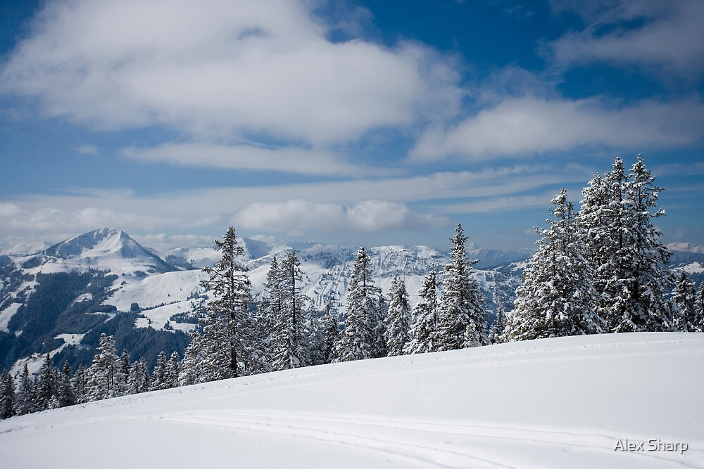 Austrian snow by Alex Sharp