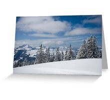 Austrian snow Greeting Card
