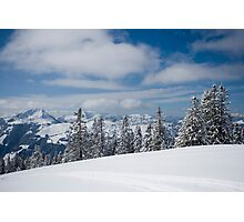 Austrian snow Photographic Print