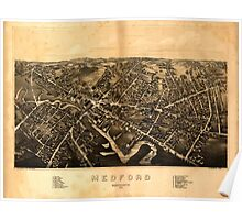Panoramic Maps Medford Massachusetts1880 Poster