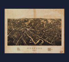 Panoramic Maps Medford Massachusetts1880 One Piece - Long Sleeve