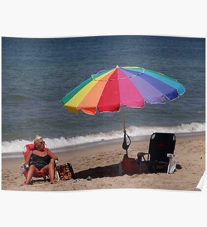 Enjoying the Sun - Disfrutando del Sol Poster