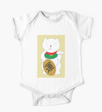 Maneki Neko Cat Luck and Good Fortune  Kids Clothes