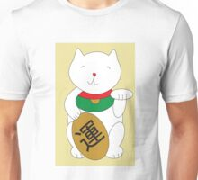 Maneki Neko Cat Luck and Good Fortune  Unisex T-Shirt