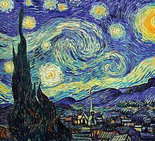 Starry Night by Vincent Van Gogh by mosfunky