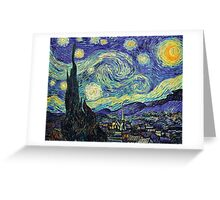 Starry Night by Vincent Van Gogh Greeting Card