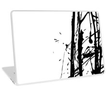 Ink splashes. Abstract stain pattern Laptop Skin