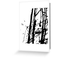 Ink splashes. Abstract stain pattern Greeting Card