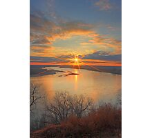 Missouri River Sunset Photographic Print