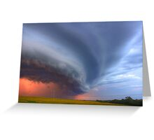 Sunset Gust Out Greeting Card