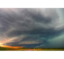The O'dell, Nebraska Supercell Photographic Print