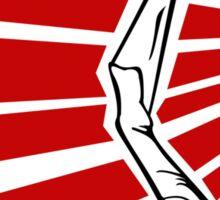 Rockabilly Burlesque Strip Tease Graphic Art Wartime  Sticker