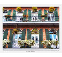 """Flower Boxes"" New Orleans French Quarter Photographic Print"